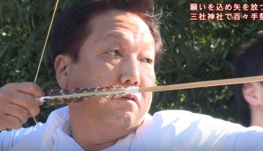 (取材日:1月20日、取材地:池田町白地 三社神社)
