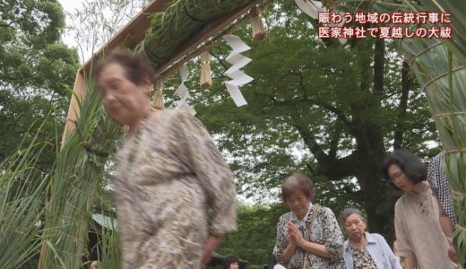 (取材日:7月10日、取材地:池田町 医家神社)