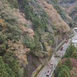山城町岩戸の国道319号で発生した土砂災害