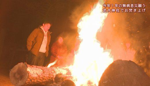 (取材日:1月7日、取材地:三野町武大神社)