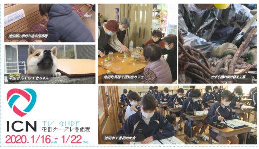 1/16(土)~1/22(金)番組表